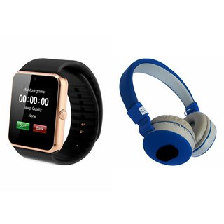 MIRZA GT08 Smart Watch And Bluetooth Headphone (J.B.L_881C Headphone) for MICROMAX CANVAS BEAT