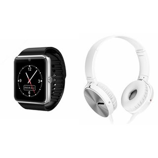 MIRZA GT08 Smart Watch And Headphone (Extra Bass XB450 Headphone) for MICROMAX BOLT Q324