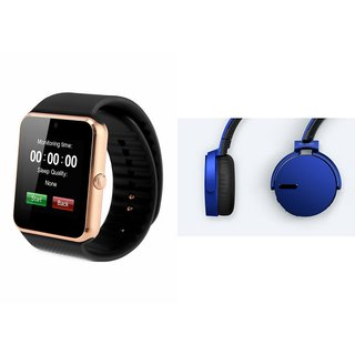 ZEMINI GT08 Smart Watch And Headphone (Extra Bass XB650 Headphone) for MICROMAX CANVAS PLAY 4G
