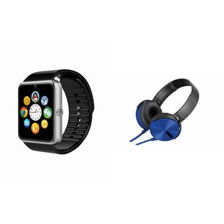 MIRZA GT08 Smart Watch And Headphone (Extra Bass XB450 Headphone) for XOLO A500S