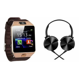 CUBA DZ09 Smart Watch & Extra Extra Bass Headphones for SAMSUNG GALAXY CORE 4 G