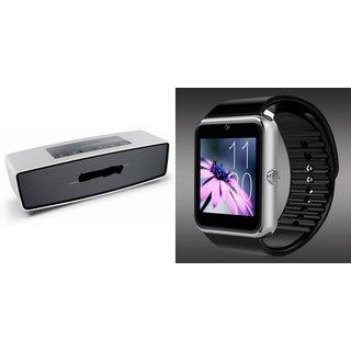 ZEMINI GT08 Smart Watch And Bluetooth Speaker (BO-X2 Speaker) for HTC DESIRE 709D