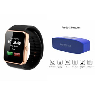 ZEMINI GT08 Smart Watch And Bluetooth Speaker (Hopestar H11 Speaker) for MICROMAX CANVAS JUICE 3+