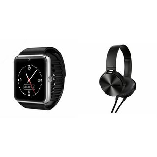 MIRZA GT08 Smart Watch & Extra Extra Bass Headphones for PANASONIC P55 NOVO