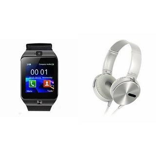 CUBA DZ09 Smart Watch & Extra Extra Bass Headphones for REDMI NOTE