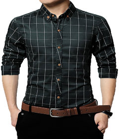 Gladiator Men's Checks Cotton Regular Fit Shirt