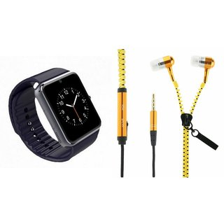 ZEMINI GT08 Smart Watch And Headset (Zipper Headset) for XOLO Q700 CLUB