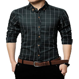 Gladiator Men's Checks Cotton Regular Fit Shirt
