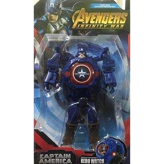 SHRIBOSSJI Avenger infintiy war Transforming Robot Captain america Convert To Digital Watch Robot Transformation WATCH