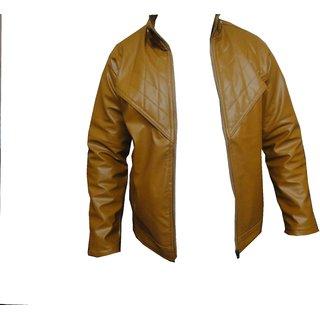 Billshope Brown Leather Jacket For Men
