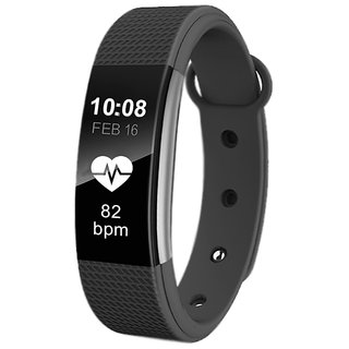 Lenkewi F1 Black Bluetooth Wireless WaterProof Activity Tracker With Heart Rate Monitoring Fitness Smart Band