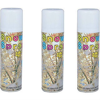 Snow Spray - White Snow Decorative Party Spray - Celebration Spray for Birthdays Anniversary and party (Pack of 3)