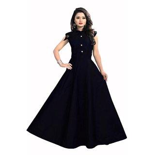 Bhuwal fashion designer satin taffeta stitched gown-tm6075purple