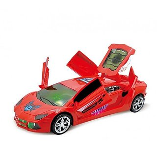 SHRIBOSSJI DREAM SUPER CAR TOY WITH 360 ROTATION , 3D PROJECTION LIGHT AND WITH AUTOMATIC OPEN CLOSE DOOR MECHANISM