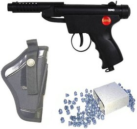 Dynamic Mart Bond Series 2 Air Gun 100 Bullets With Cover Pack Of 1 Black