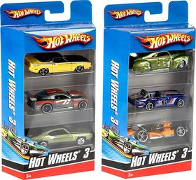 Shribossji Hot wheels Car Set Pack Of 3 best quality cars pack for kids/children ( Cars Models may vary )  (Multicolor)