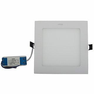 Polycab Scintillate LED Square Slim Down Light LPD1600501 (12 Watt, White)