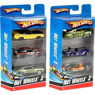 Shribossji Hot wheels Car Set Pack Of 3 best quality cars pack for kids/children ( Cars Models may vary )  (Multicolor)