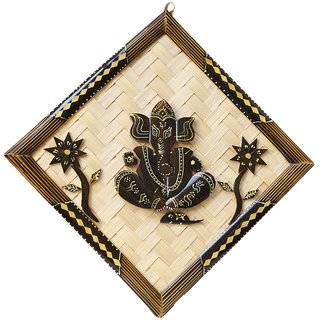 Handmade Ganesha Of Pure Bamboo For Wall Hanging or Showcase 40  40 cm