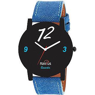 Radius Black Analog Denim Watch For MenBoy ( RQ- 39)