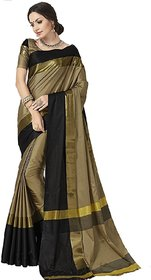 Indianbeauty Embellished Fashion Cotton Silk Saree  (Beige)