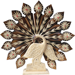 Handmade Peacock Of Pure Bamboo For Wall Hanging or Showcase 26  29 cm
