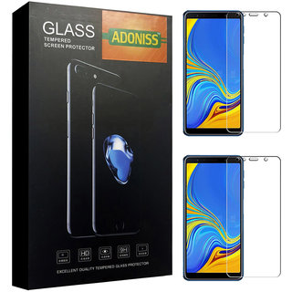 Adoniss 9H/6D Mobile Tempered Glass Protector (Pack of 2) Samsung Galaxy A7