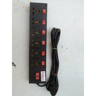6+6 Power strip multi use board extension cord surge protector electric board multi plug multi switch