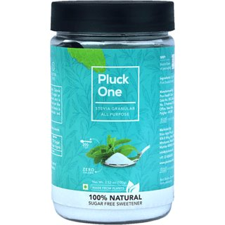 Pluck One Stevia All Purpose Powder (200 gms/400 tsp) - 100 Natural Sweetener  Zero Calorie  Sugar Substitute