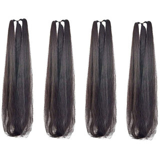 GaDinStylo Set of 4, 42Inchs Black Hair Parandi for Wedding Accessories