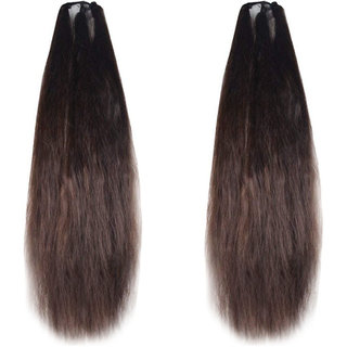 GaDinStylo Set of 2, 24Inchs Brown Hair Parandi for Wedding Accessories