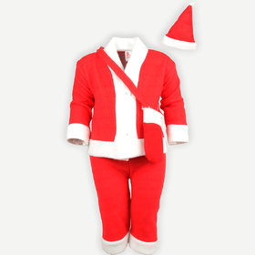 Christmas Santa Claus Fancy Dress Costume for Xmas Party (Size 0 New Born to 6 Months)
