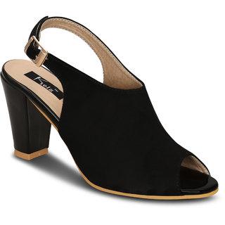 56c1c647305 Buy Kielz-Black-Block-Sandals Online - Get 60% Off