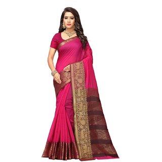 Adyah Enterprise Pink Cotton Silk Saree6243