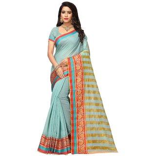 Adyah Enterprise Sky Blue Cotton Silk Saree6254