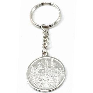 Faynci MAKKA MADINA ALLAH 786 Silver Key Chain Gift for Ramadan, Eid, Birthday, Friendship