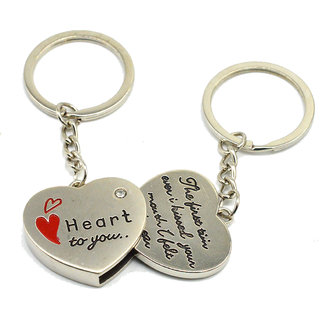 Faynci Two PC Quality Heart for You msg Couple Key Chain for Gifting Valentine Day/Birthday/Friendship Day