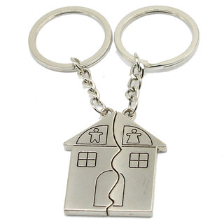 Faynci Universal Magnetic Home Couple Home Key Chain for Gifting Valentine Day/Birthday/Friendship Day