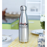 Magic Lifestyle Thermosteel Double Wall Vacuum Insulated Stainless Steel Cola Flask, BPA Free Thermos Travel Water Bottle 1000 ml, Silver Color
