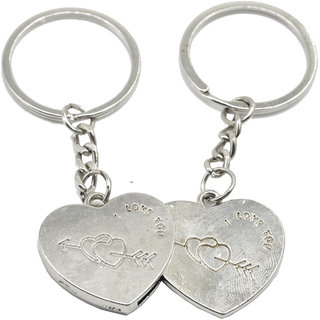 Faynci Two PC Heart I Love You Couple Key Chain for Gifting Valentine Day/Birthday/Friendship Day