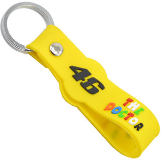 Faynci The Doctor 46 Double Sided Yellow Silicone collectible Racing Bike Keychain