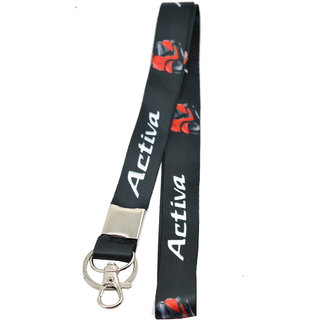 Faynci Premium Quality Fabric Double Sided Activa  Bike Logo Hook Key Chain for Activa Bike Lover