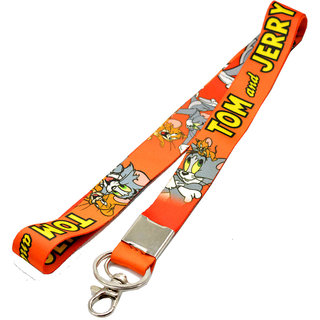 Faynci Premium Quality Fabric Double Sided Tom and Jerry Hook Key Chain
