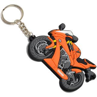 Faynci Yamaha Bike Logo Orange SyntheticPVC soft Key Chain