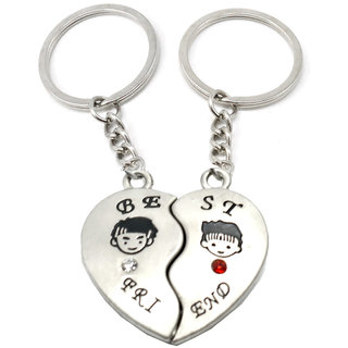 Faynci Best Friend Magnetic High Quality Key Chain Gifting for Valentine Day/Birthday /Friendship