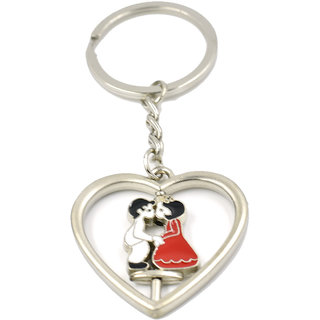 c715c168d6 Buy Faynci Kissing Spinning Couple Key Chain Gifting for Valentine  Day/Birthday /Friendship Online - Get 37% Off
