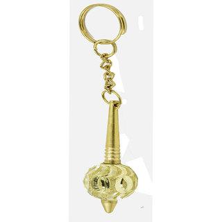 Faynci Attractive Mahabali Hanuman Golden Gada Key Chain
