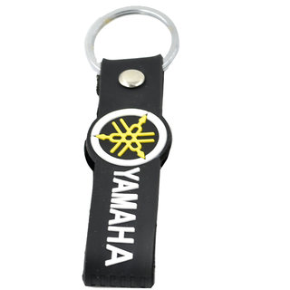 Faynci Yamaha Inspired Double Sided Silicon Keychain  collectible Black Yellow