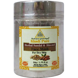 Khadi Pure Herbal Sandal  Almond Face Mask (For Dry Skin) - 50g