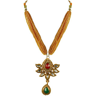 Golden Stone Stud-Gold Platted Brass Pendant